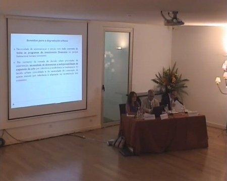 Mestre Fernanda Paula Oliveira. Facultade de Dereito da Universidade de Coimbra. Grabación lado presentación - Seminario luso-galaico de dereito local. Dereito do Urbanismo